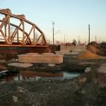 Dwa mosty kolejowe na rzecze Wierna Rzeka